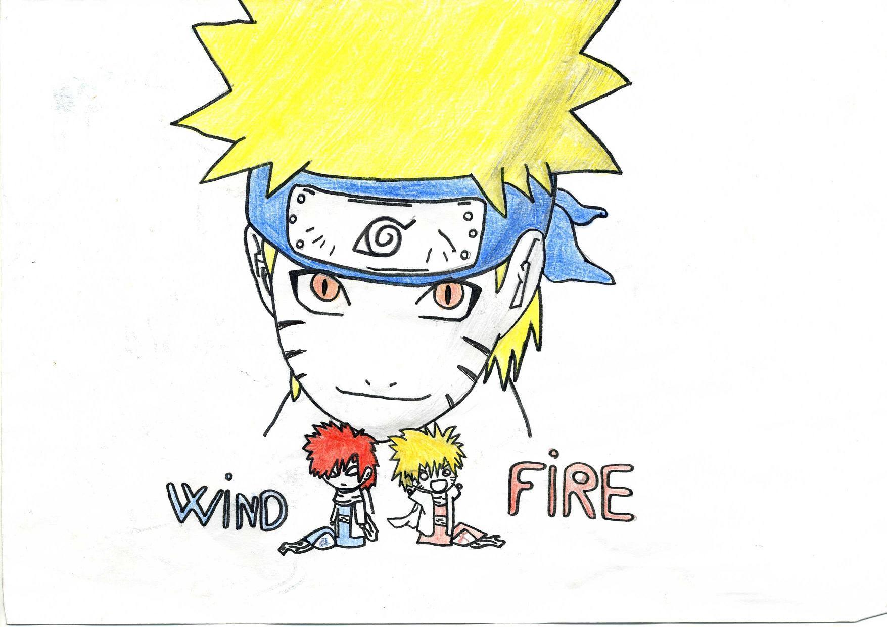 Fanart de Kazekage, Uzumaki Naruto par yami naruto