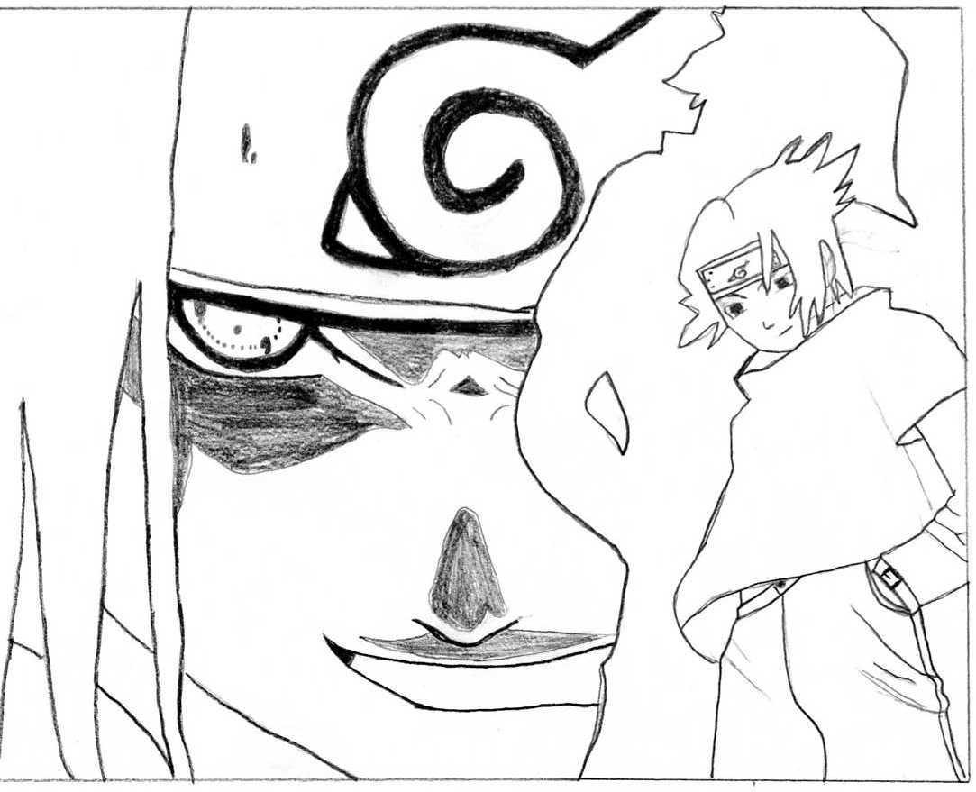Naruto the way of naruto sasuke uchiwa de tony94 - Coloriage sasuke ...