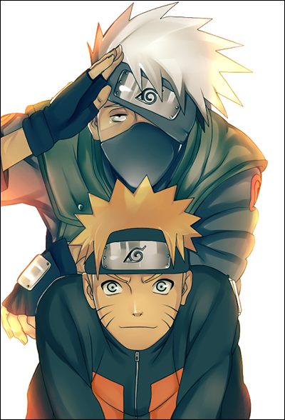 Fanart de Hatake Kakashi, Uzumaki Naruto par saku33
