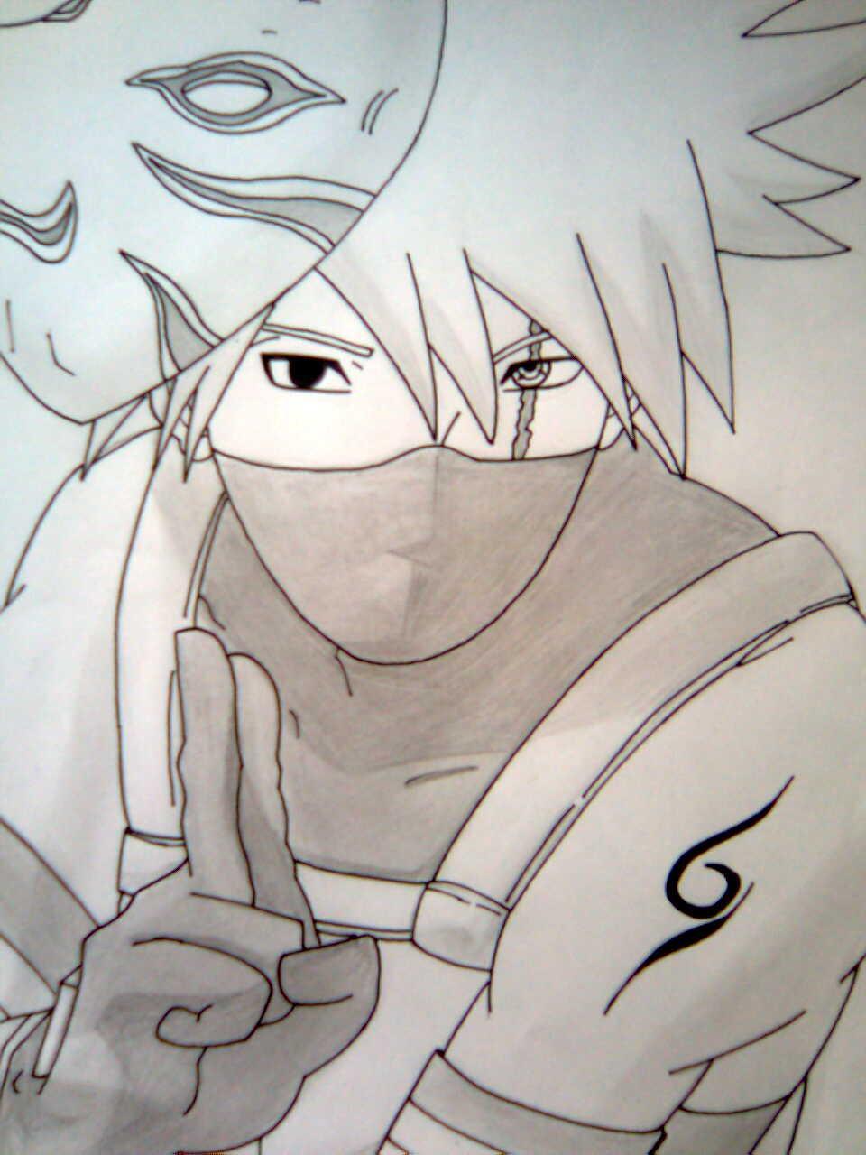 Naruto the way of naruto kakashi anbu de bart uchiwa - Dessin kakashi ...