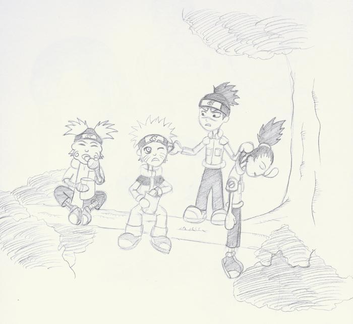 Fanart de Akimichi Choji, Iruka, Nara Shikamaru, Uzumaki Naruto par morgila