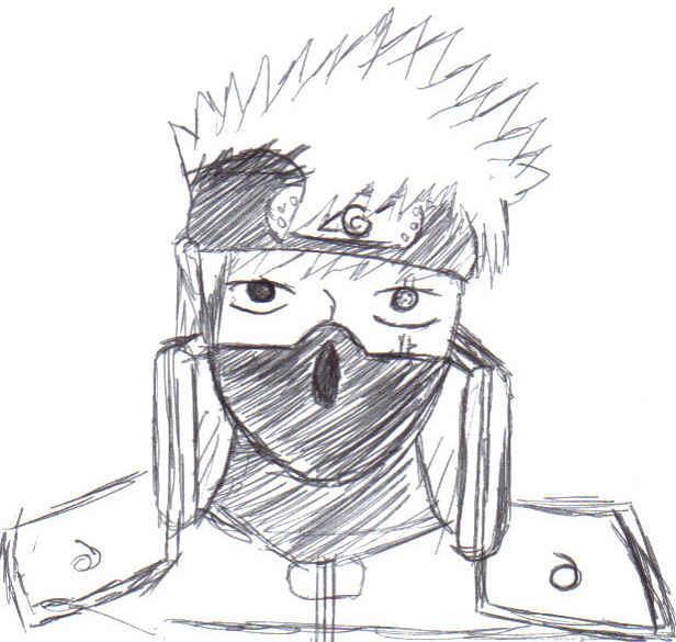 Naruto the way of naruto dessin kakashi hatake de - Dessin kakashi ...
