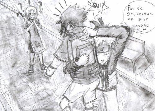 Fanart de Haruno Sakura, Uchiwa Sasuke, Uzumaki Naruto par mouton-bond
