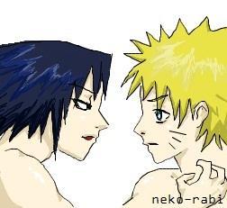 Fanart de Uchiwa Sasuke, Uzumaki Naruto par neko-rabi