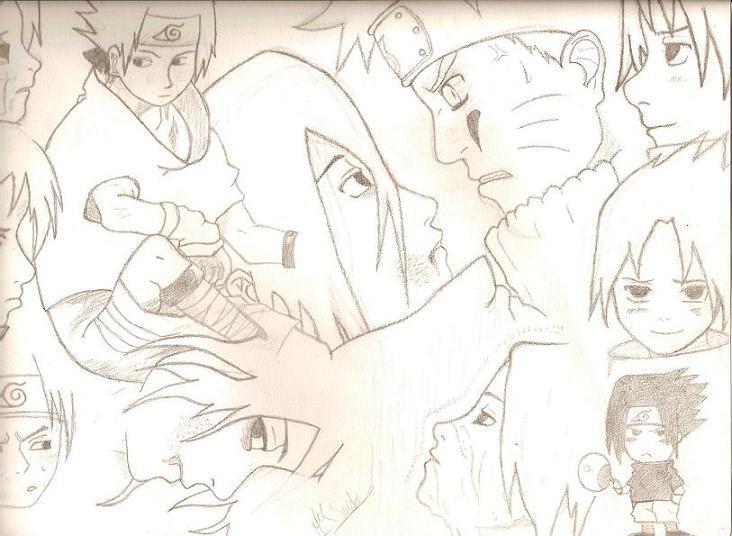 Fanart de Uchiwa Sasuke, Uzumaki Naruto par Miss Lune