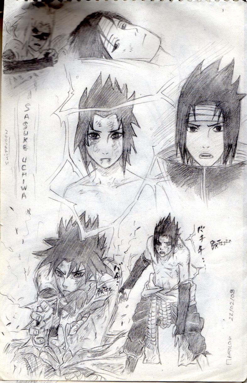 Naruto the way of naruto croquis de sasuke de haitaka - Croquis naruto ...