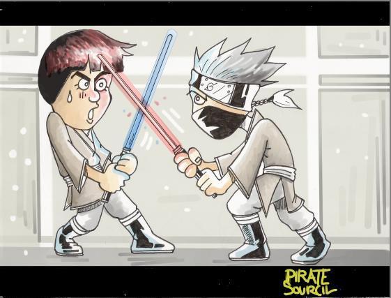 Fanart de Hatake Kakashi, Maito Gaï par PirateSourcil