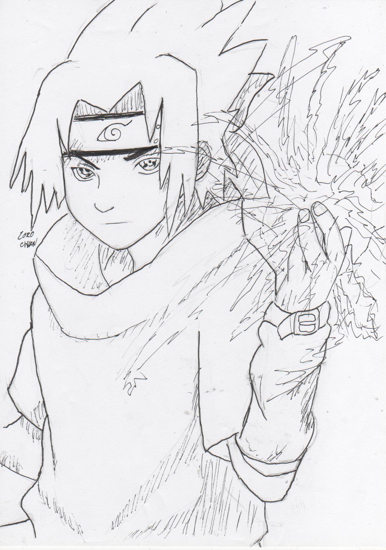 Naruto the way of naruto sasuke chidori de zorochan - Coloriage naruto sasuke ...