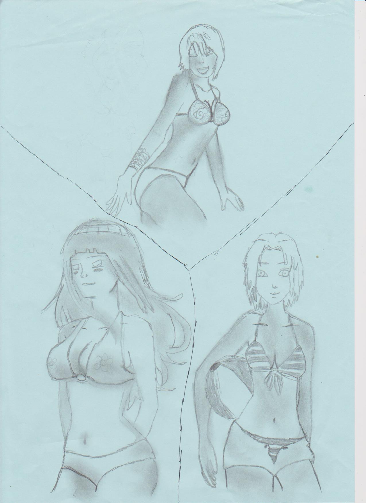 naruto the way of naruto le trio des filles la plage de yondaime83150. Black Bedroom Furniture Sets. Home Design Ideas