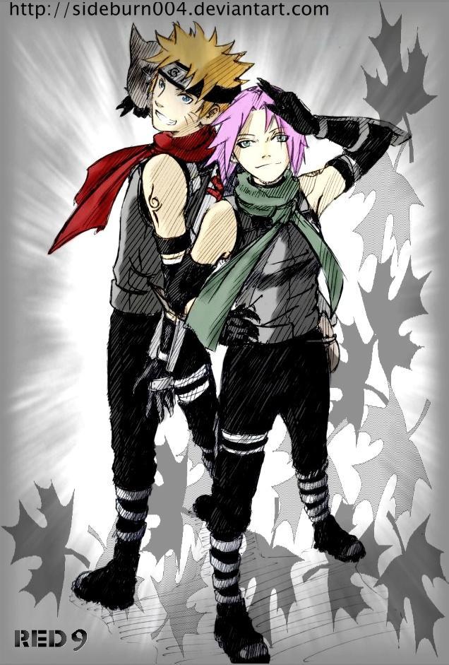 Fanart de Haruno Sakura, Uzumaki Naruto par REÐ9