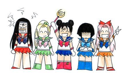 Fanart de Haruno Sakura, Hyûga Hinata, Hyûga Neji, Ten-Ten, Yamanaka Ino par Shan