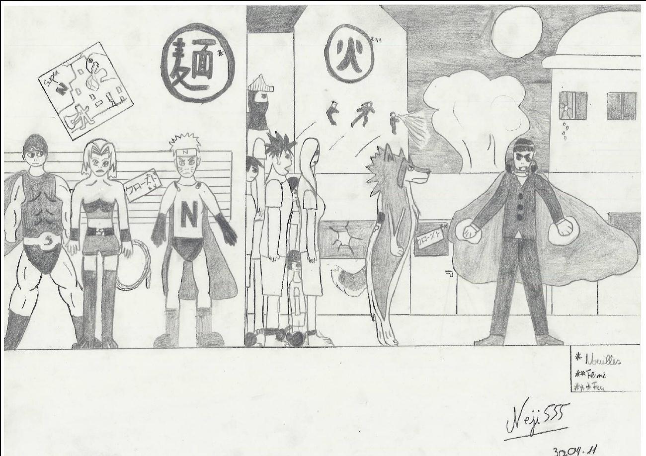 Fanart de Haruno Sakura, Rock Lee, Sai, Uchiwa Sasuke, Uzumaki Naruto par neji555