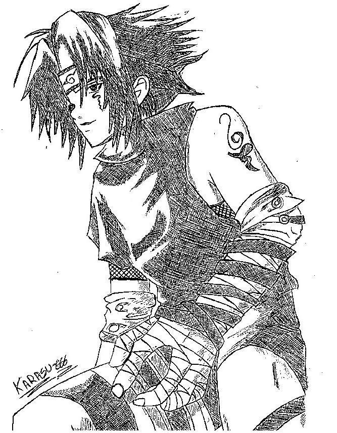 Fanart de Uchiwa Sasuke par Karasu-666