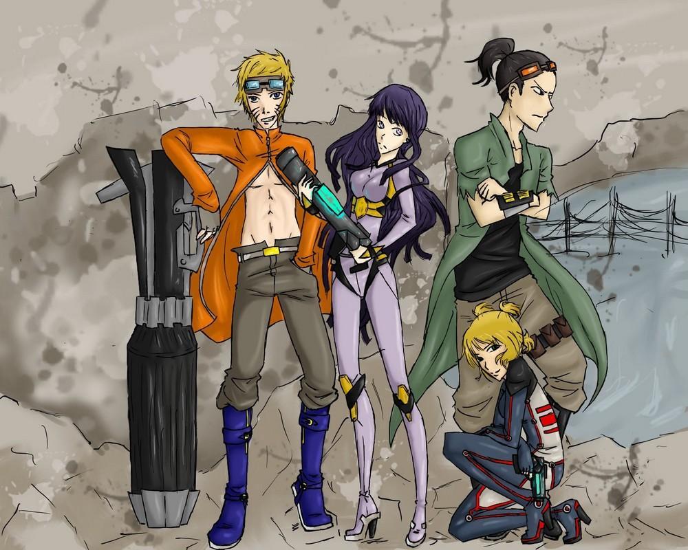 Fanart de Hyûga Hinata, Nara Shikamaru, Temari, Uzumaki Naruto par Lilly-chan