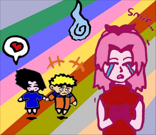 Fanart de Haruno Sakura, Uchiwa Sasuke, Uzumaki Naruto par Sham8