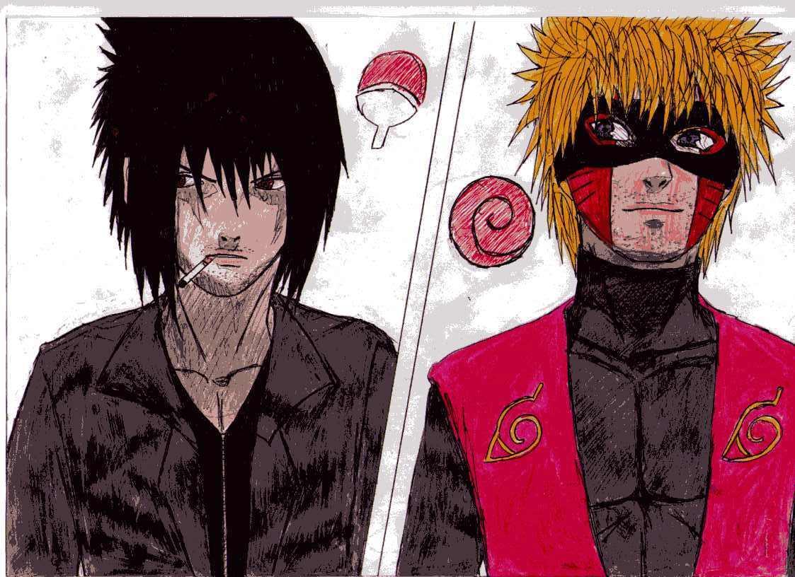 Fanart de Uchiwa Sasuke, Uzumaki Naruto par Partoshe
