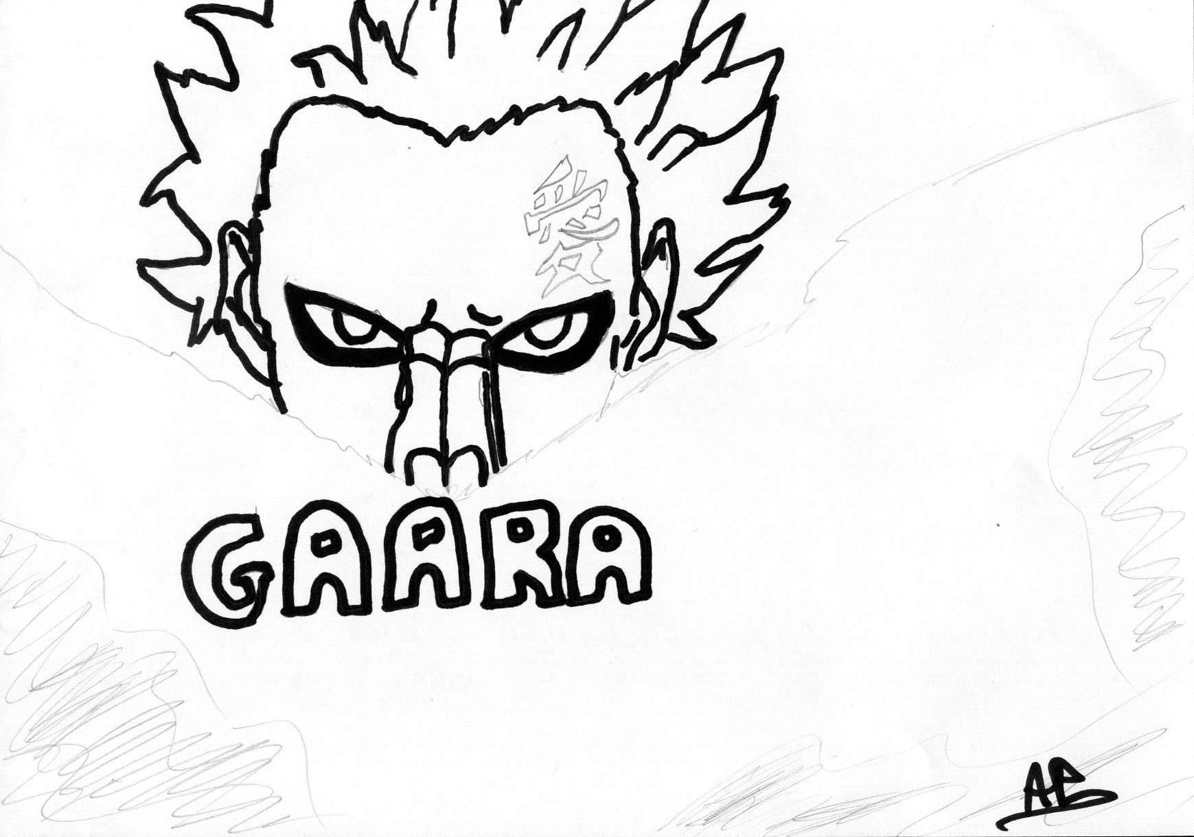 Fanart de Gaara du Désert par narumoto