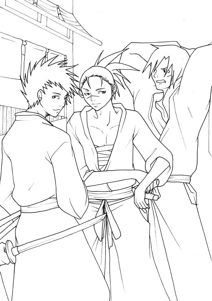 Fanart de Hatake Kakashi, Iruka par Alexiel50