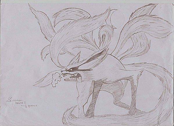 Naruto le renard a 9 queue - Coloriages naruto demon renard ...