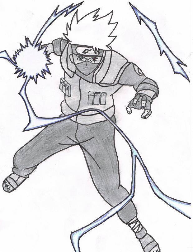 Naruto the way of naruto kakashi hatake eclaire - Dessin kakashi ...