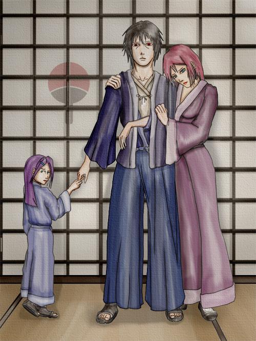 Fanart de Haruno Sakura, Uchiwa Sasuke par silver_daemon