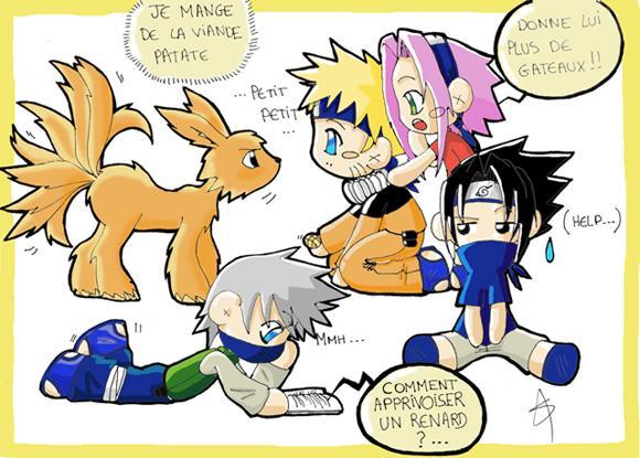 Fanart de Haruno Sakura, Hatake Kakashi, Uchiwa Sasuke, Uzumaki Naruto par erufunotoki