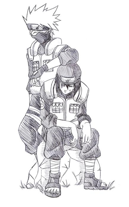 Fanart de Gekko Hayate, Hatake Kakashi par Uchiha_Sasuke