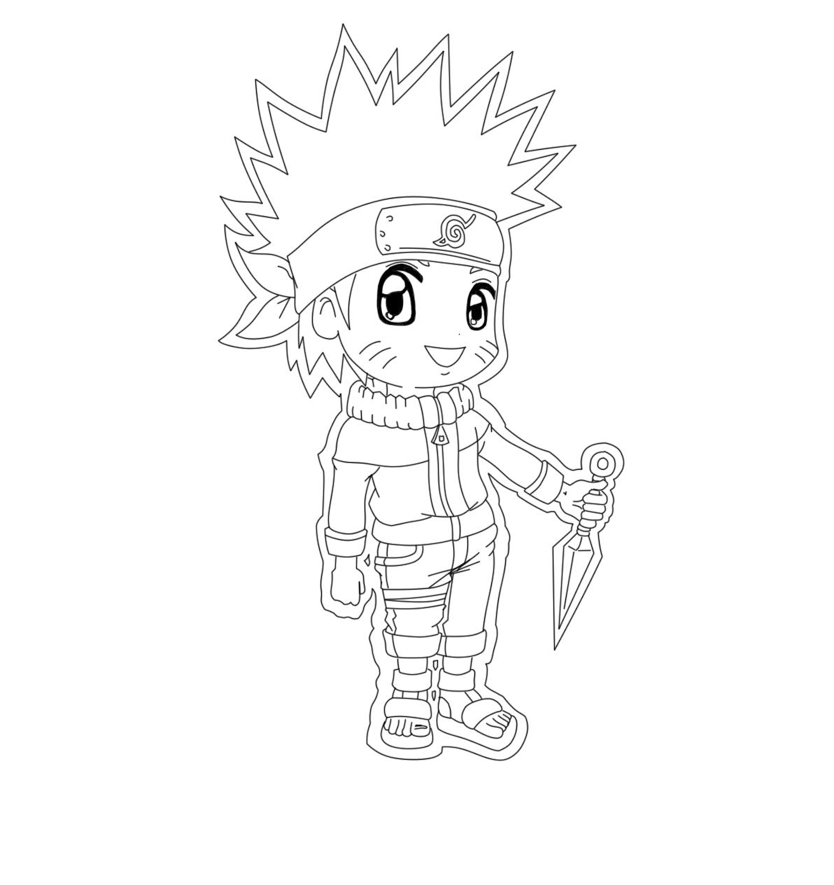 Naruto the way of naruto chibi lineart naruto de - Naruto coloriage en ligne ...