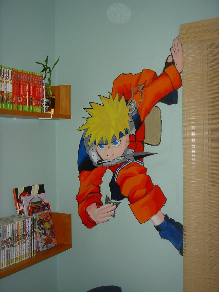 Naruto the way of naruto naruto mural de yahiko for Mural naruto