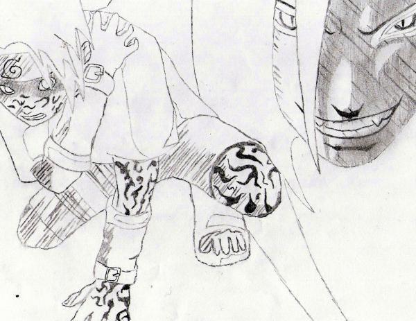 Fanart de Orochimaru, Uchiwa Sasuke par naruto-maniac