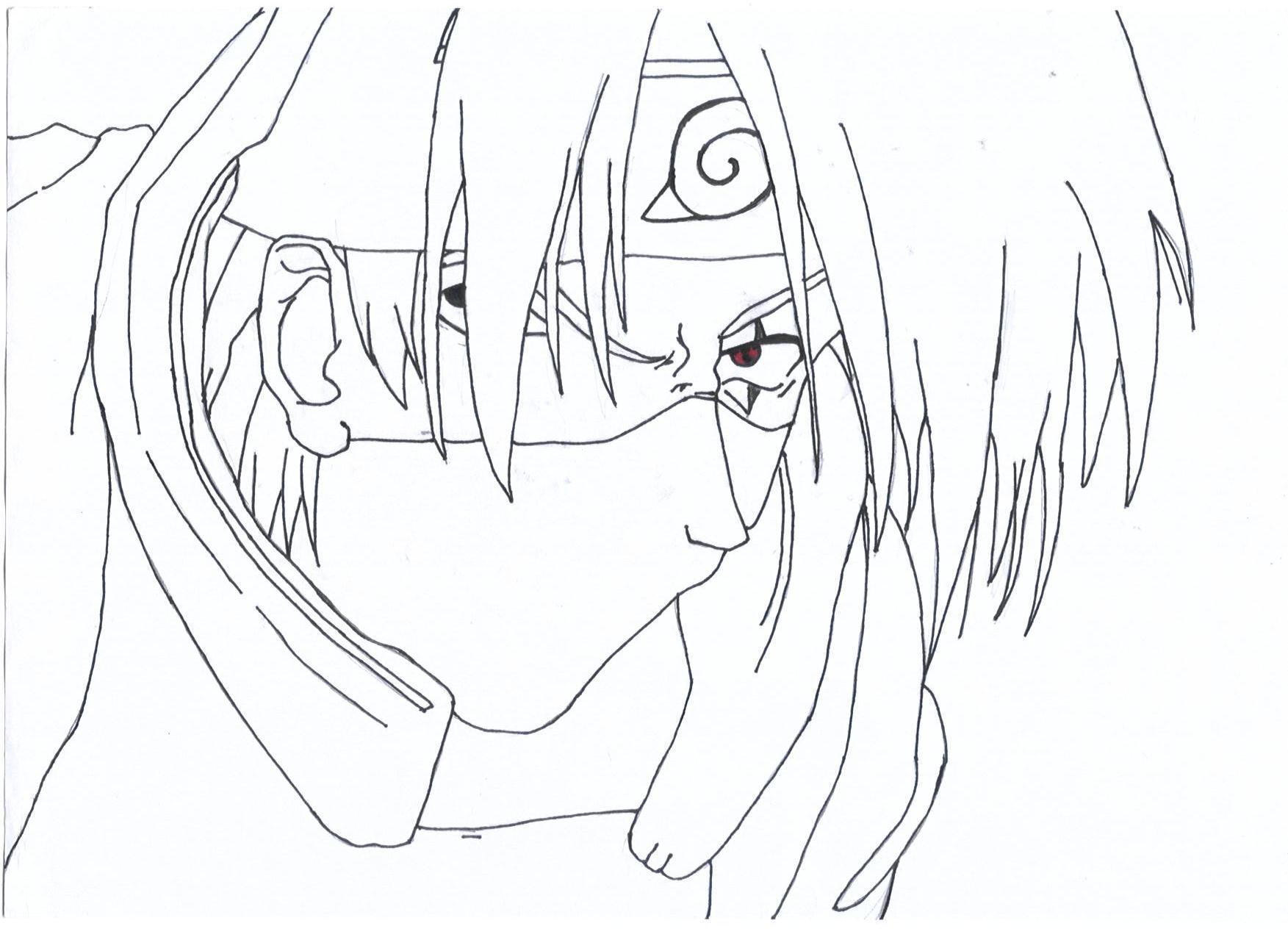 Coloriage Kakashi.Naruto The Way Of Naruto Kakashi De Momo5
