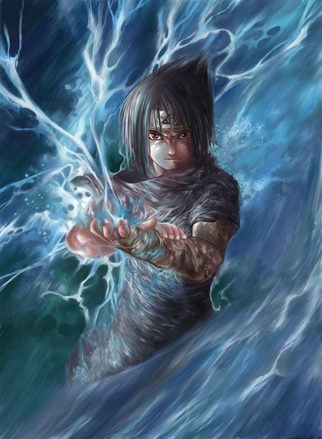 Fanart de Uchiwa Sasuke par TSHO