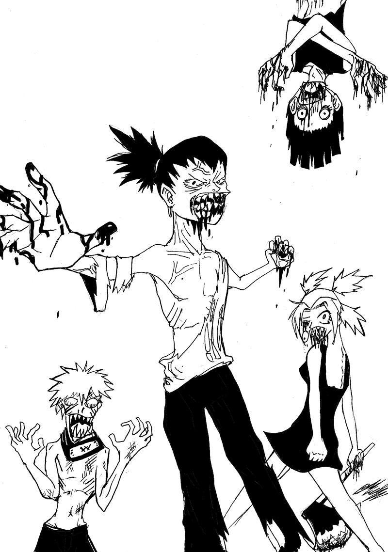 Fanart de Nara Shikamaru, Rock Lee, Temari, Uzumaki Naruto par Hayard