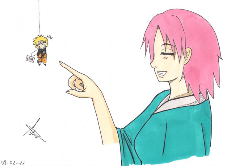 Fanart de Haruno Sakura, Uzumaki Naruto par gaarafan