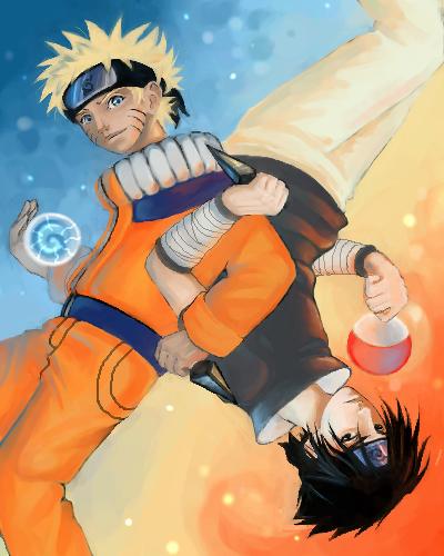 Fanart de Uchiwa Sasuke, Uzumaki Naruto par Xan-W