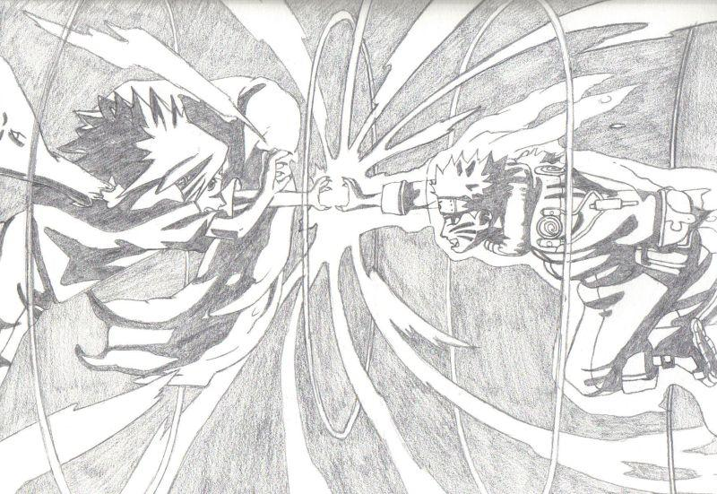 Naruto the way of naruto chidori vs rasengan de mike san - Naruto dessin couleur ...