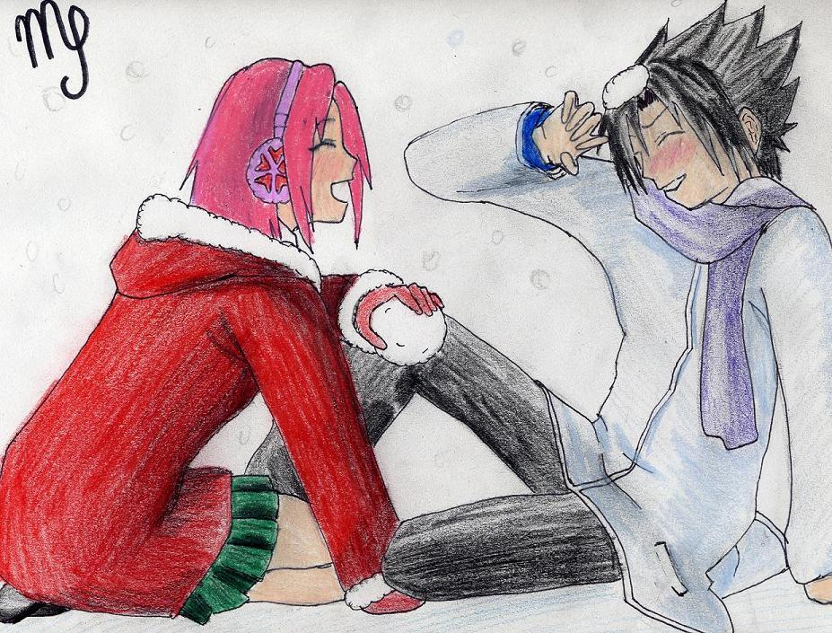Fanart de Haruno Sakura, Uchiwa Sasuke par darknangel
