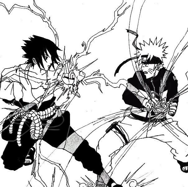 Naruto the way of naruto sasuke vs naruto de chayza - Dessin naruto et sasuke ...