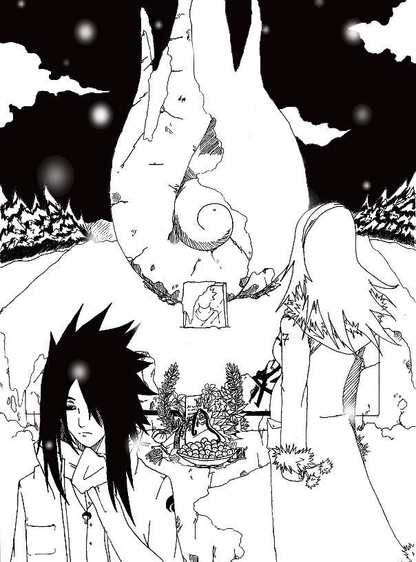 Fanart de Haruno Sakura, Uchiwa Sasuke par Chayza