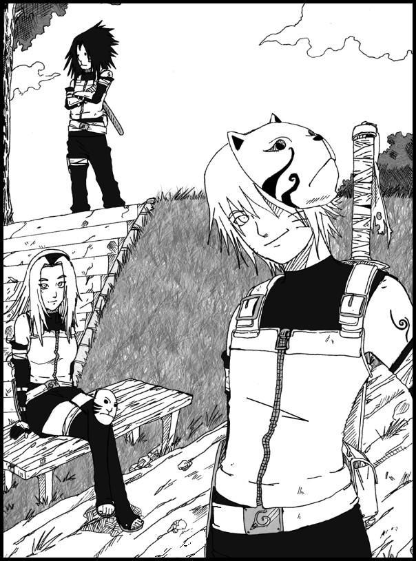 Fanart de Haruno Sakura, Uchiwa Sasuke, Uzumaki Naruto par Chayza