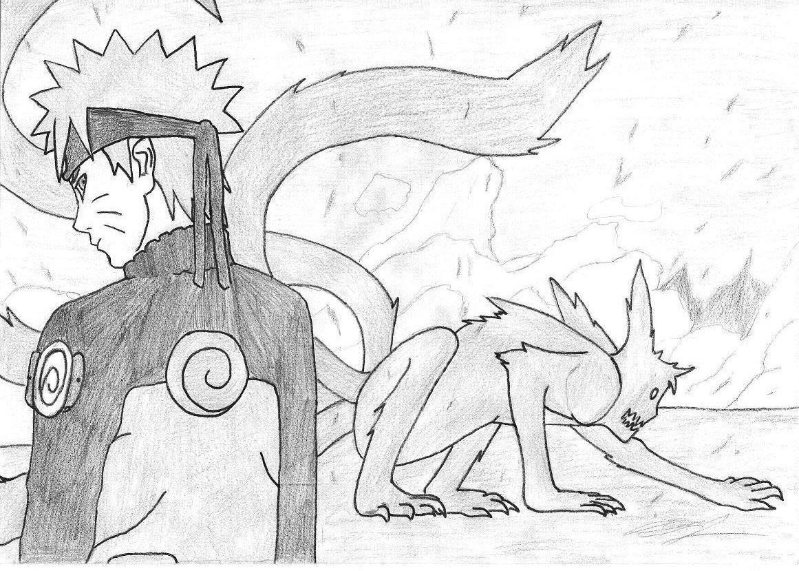 Naruto kyubi dessin colorier les enfants - Naruto dessin couleur ...