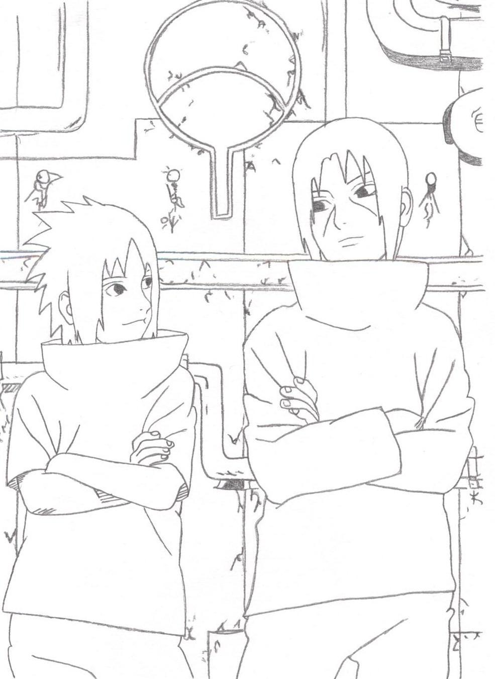 Fanart de Uchiwa Itachi, Uchiwa Sasuke par Ukai