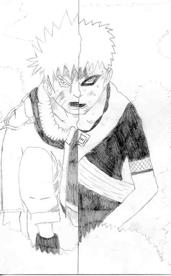 Fanart de Gaara du Désert, Uzumaki Naruto par Tim